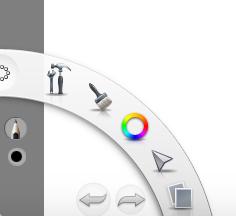 SketchBookExpress' Side Toolbar.